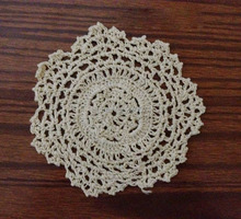 CD003 12pcs/set Handmade Crochet Tablecloth Colorful flower Placemat Shabby Chic Vintage Look Crocheted Doilies Free Shipping(China (Mainland))