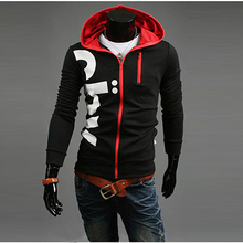Fty Price Men Spring Autumn Slim Hooded Cardigans Hoodies Sweatshirt Hot Sale Letter Print Men Long Sleeve Zipper Sweatshirt