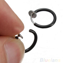 Clip on Hoop Boby Nose Lip Ear Piercing Earrings Punk Goth Septum for Men 02IE 36U9