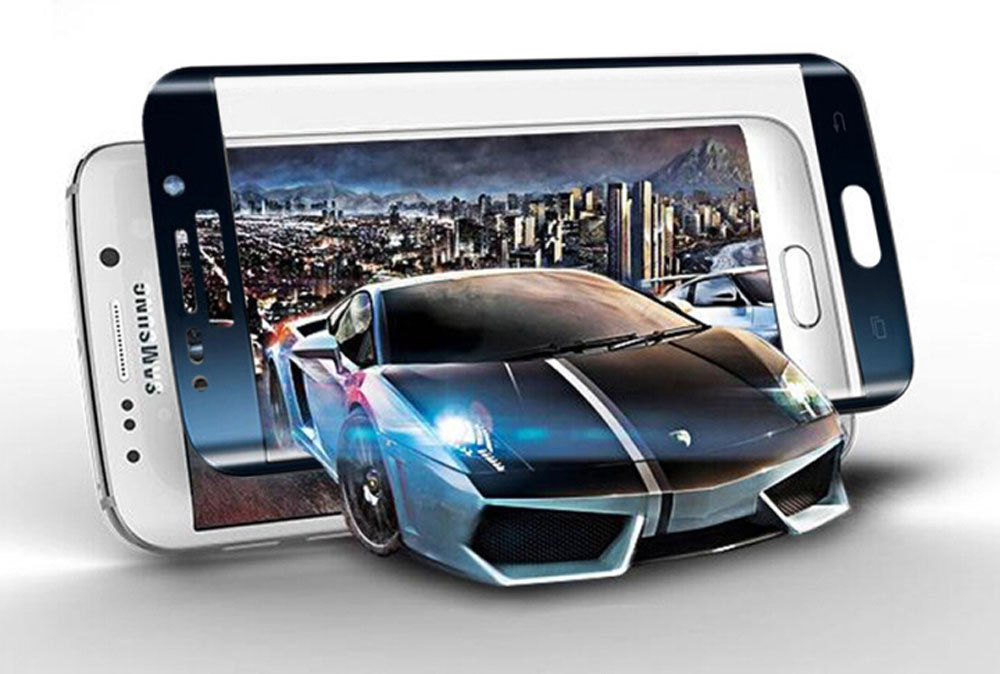 3D Curved Surface Full Screen Cover Explosion-proof Color Tempered Glass Film 9H for Samsung Galaxy S6 edge/Edge Plus S7 edge