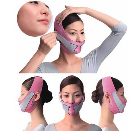 hot sale Thin Face Mask Slimming Bandage Skin Care Shape And Lift Reduce Double Chin Face Belt free shipping(China (Mainland))