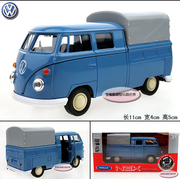 1PC Wyly welly t1 Picard's vw bus blue refined luxury gift box alloy car model children gift(China (Mainland))