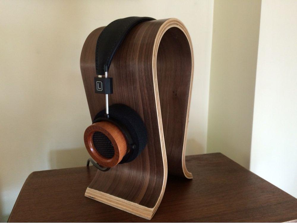 High quality wood headphones stand u type 8mm walnut wooden headset holder earphone display - Wooden headphone holder ...