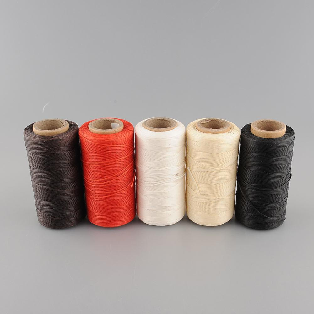 Hot 260Meter 1mm 150D Leather Waxed Wax Thread Cord for DIY Tool Hand Stitching drop shipping(China (Mainland))