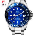 Male table luminous automatic mechanical watches business men watch waterproof stainless steel watch simple fashion watch