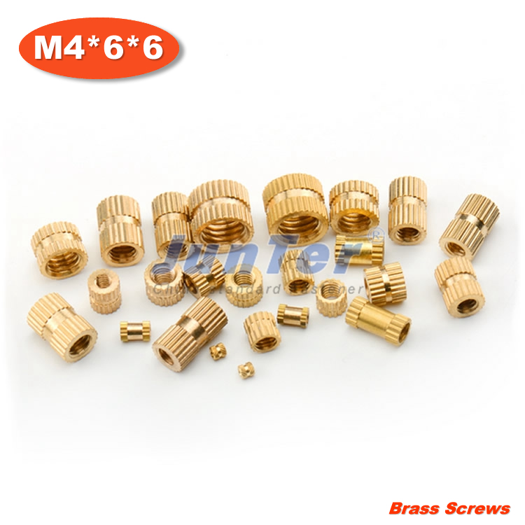 500pcs/lot M4*6*6 Injection copper nut Copper inserts Knurled nut Copper flower mother<br><br>Aliexpress