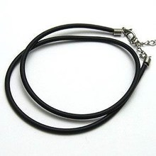 Brand Design 316L steel chain necklace retro leather cord jewelry gothic punk length can be customized