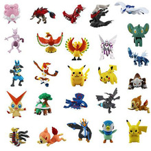 72pcs Action & Toy Figures 2-3cm Pokeball Pikachu(China (Mainland))