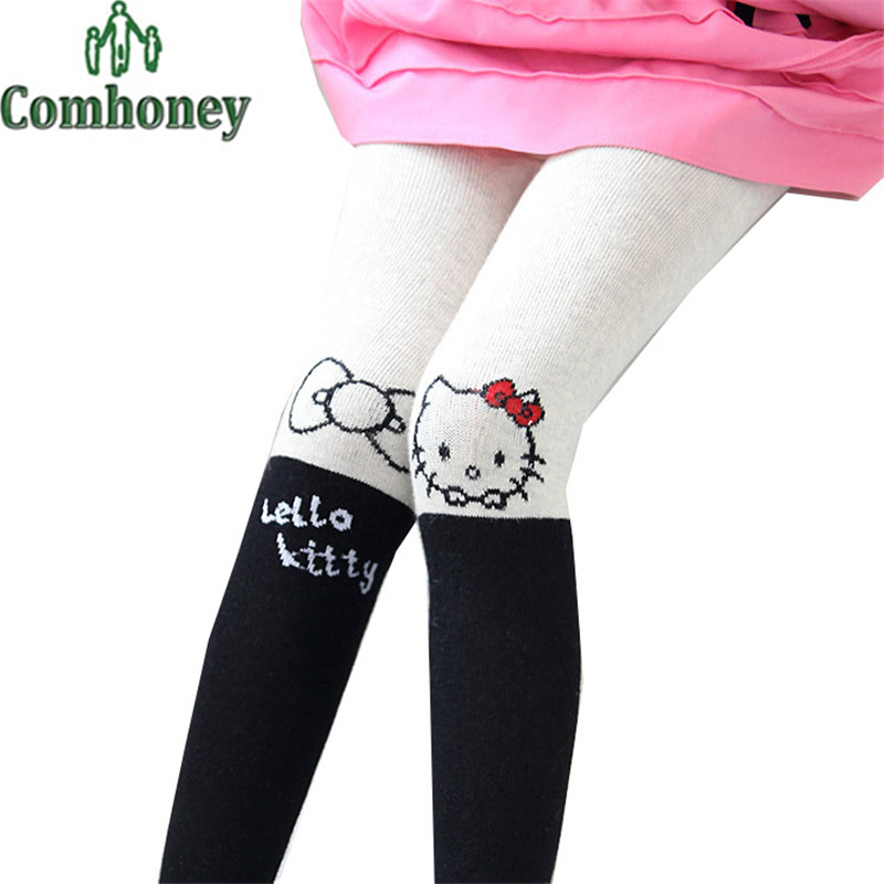 Hello Kitty Girls Legging Bunny Pant for Baby Lovely Cotton Cat Rabbit Cartoon Leggings Toddler Birthday Party Kids Trousers(China (Mainland))