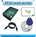Avoid driving RFID 125KHZ T5557 EM4305 id card read writer RFID writer usb port English software