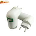 360 Degrees Eu To E27 Lamp Bases 110V 220V power socket Lamp Holder Converters Fireproof Material