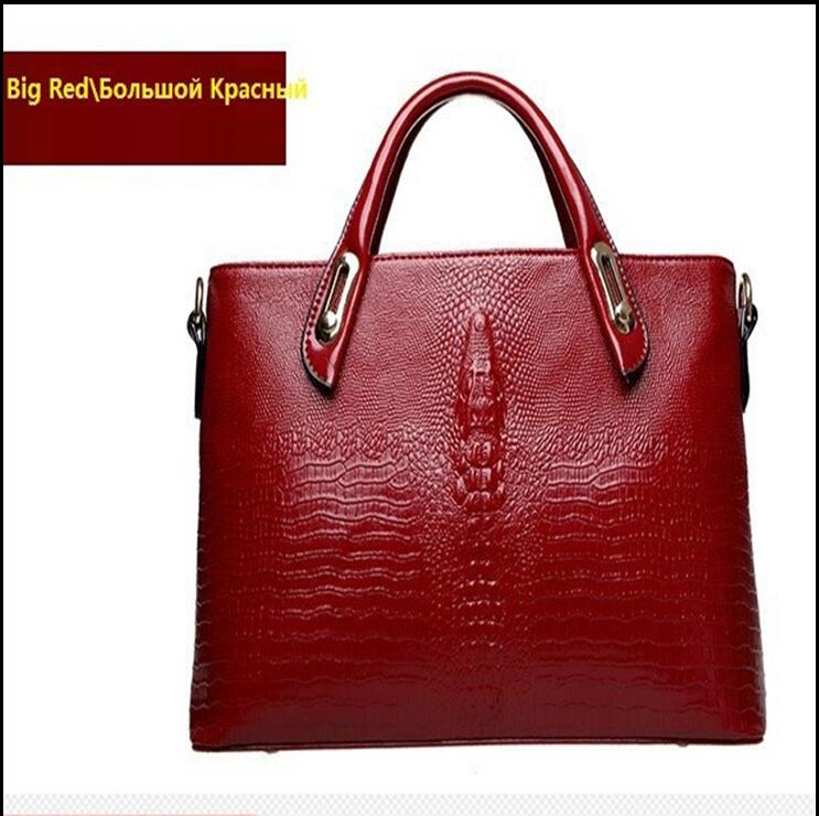 New crossbody bag handbag handbags Postman stream of high-quality luxury fashion handbags crocodile pattern leather bag woman(China (Mainland))