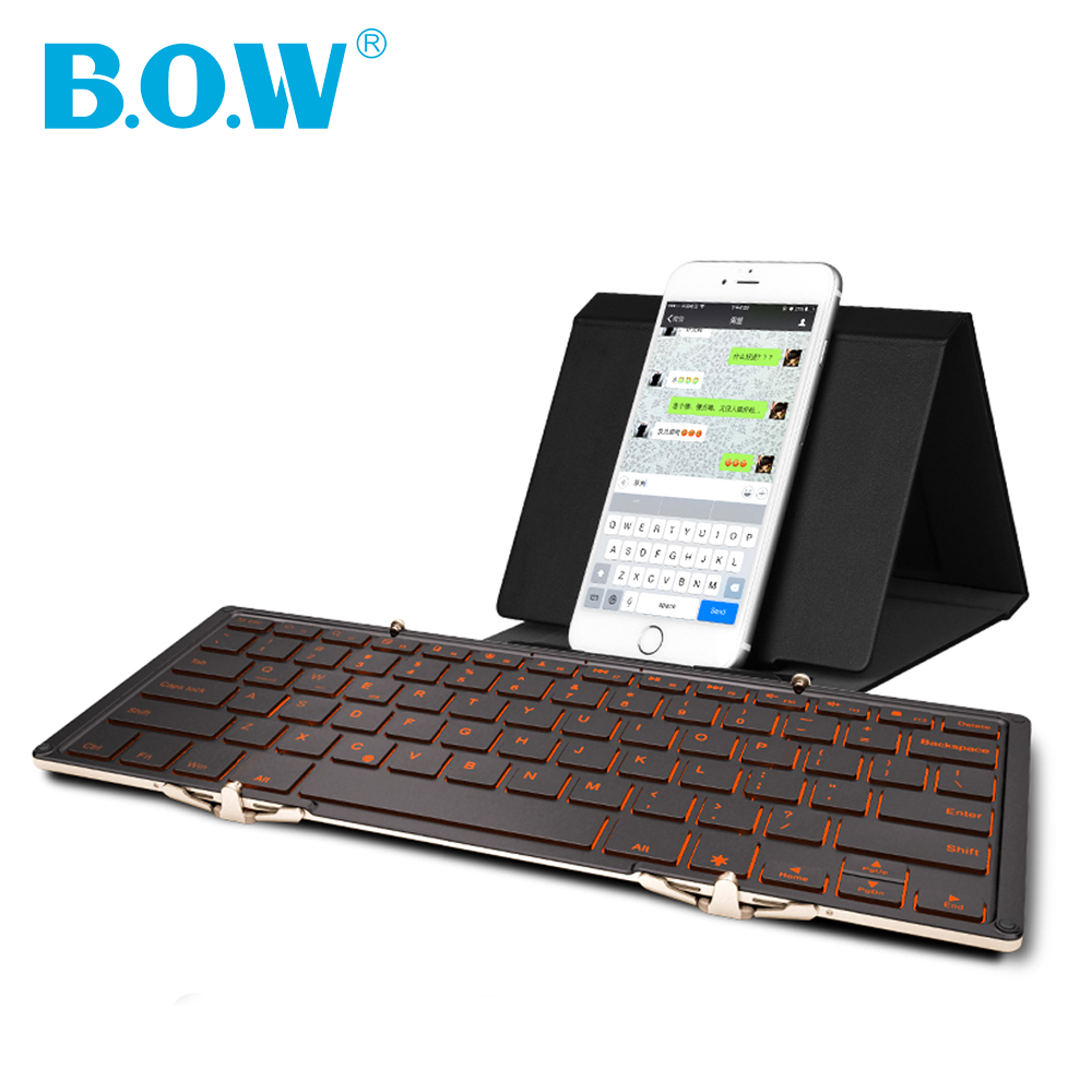 Universal BACKLIT(backlight) Foldable Wireless Bluetooth Keyboard For iPad,Smartphone and tablets PC (Ergonomic & Aluminum body)(China (Mainland))