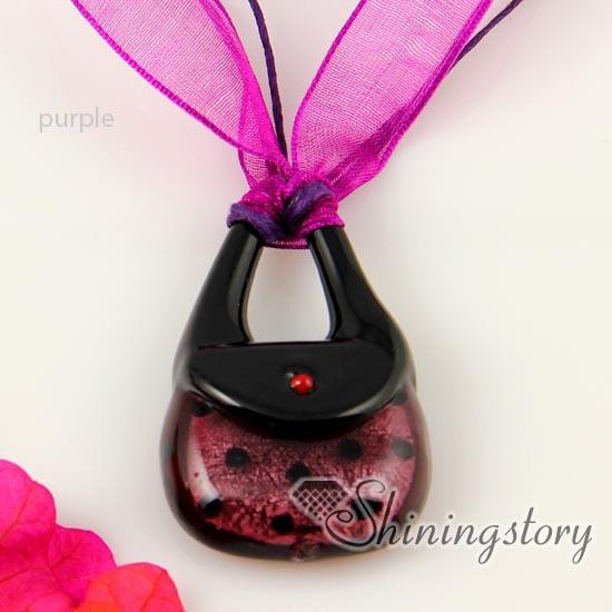 Handbag lampwork murano glass necklace pendant jewelry colored cheap fashion jewellery handmade fashion jewlery<br><br>Aliexpress