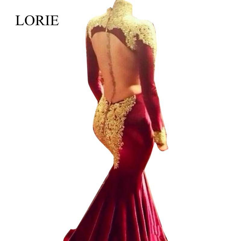 Long Sleeve Mermaid Prom Dresses 2017 Plus Size Prom Dresses