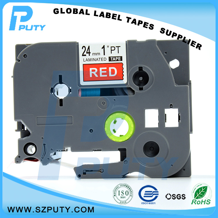 10 packs TZe-455 24mm White on Red TZ-455 compatible label tapes for ptouch label printers<br><br>Aliexpress