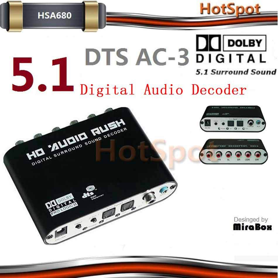 Фотография HSA688 HSA680 digital audio decoder support  Digital AC-3 Dolby Pro Logic,DTS,PCM and other digital audio format decode