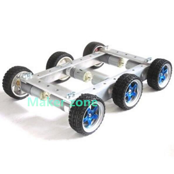 Cool and New 6WD small car bearing chassis motor 6V 150RPM wheels skid 65mm for smart remote control(China (Mainland))