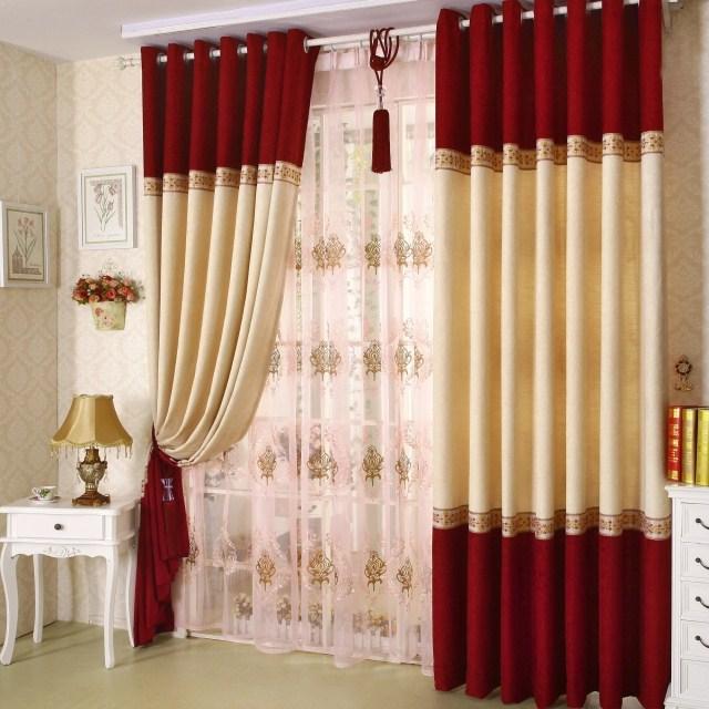 Compra cortina de terciopelo rojo online al por mayor de for Cortinas para cocina gris