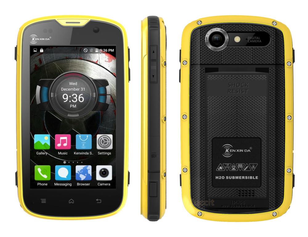 Shockproof IP68 rugged Android Waterproof Phone Kenxinda W5 cellular phone original Quad Core Smartphone 4G FDD LTE GPS Cat(China (Mainland))