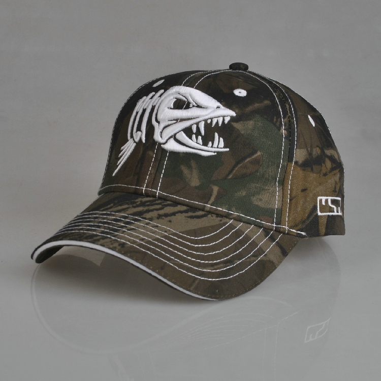 Fish pattern outdoor fishing cap baseball cap breathable for Fishing ball caps