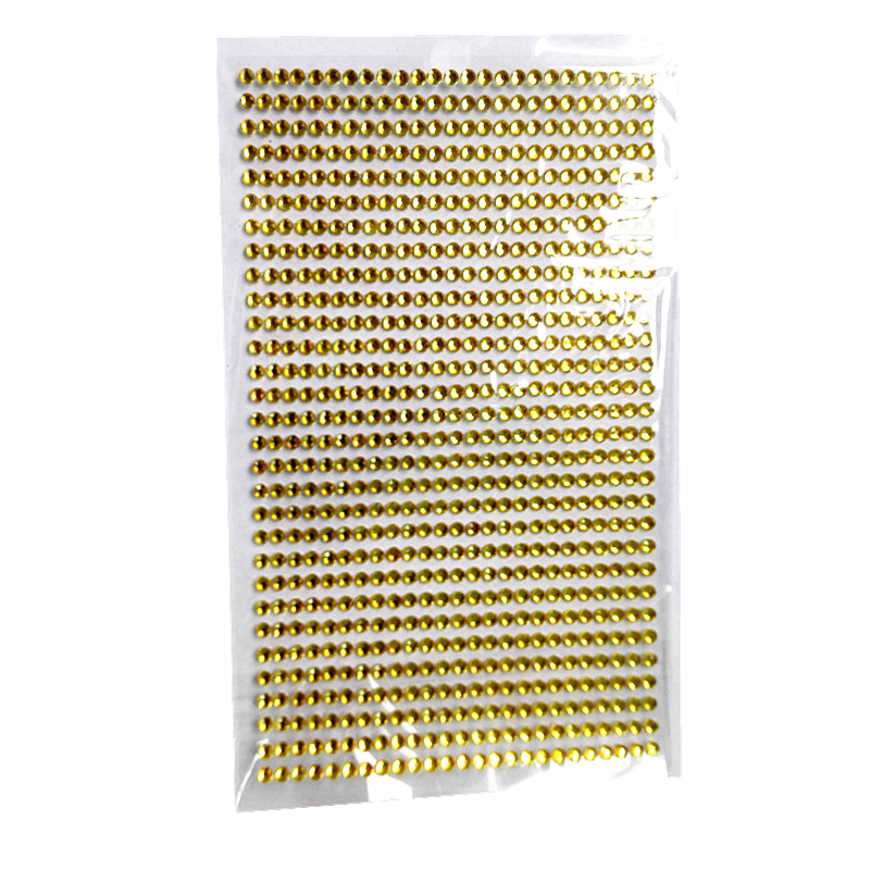 Car sticker 3mm Diy Decal Mobile/pc yellow Crystal Diamond Bling Rhinestone Self Adhesive Scrapbooking Picture framesStickers(China (Mainland))