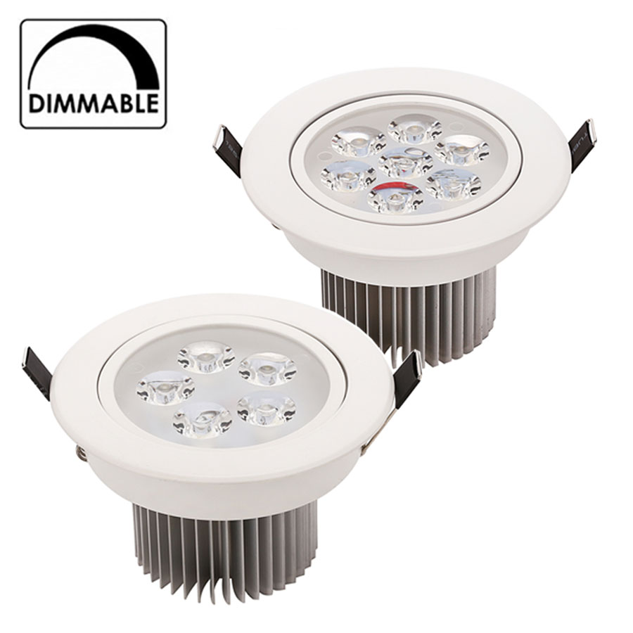LED Downlight Dimmable CREE 15W 21W items White shell lights for home Bathroom living room kitchen lighting(China (Mainland))