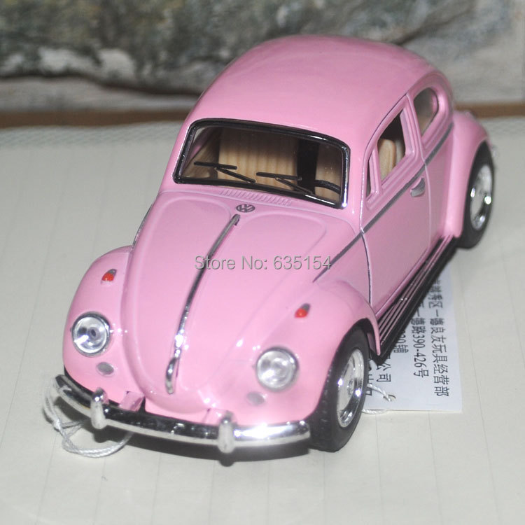 Brand New Classic 1967 Volkswagen Vw Classic Beetle Bug Vintage 1/32 Scale Diecast Metal Pull Back Car Model Toy For Gift/Kids(China (Mainland))