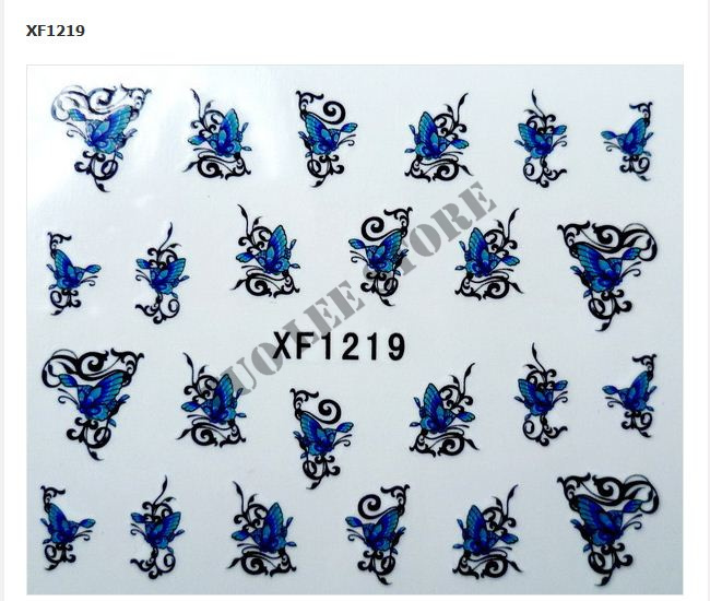 Free Shipping-NEW 3D Nail Sticker 50sets/lot Nail Art Sticker Water Temporary Tattoos Watermark Stickers, 35 Styles Available(China (Mainland))