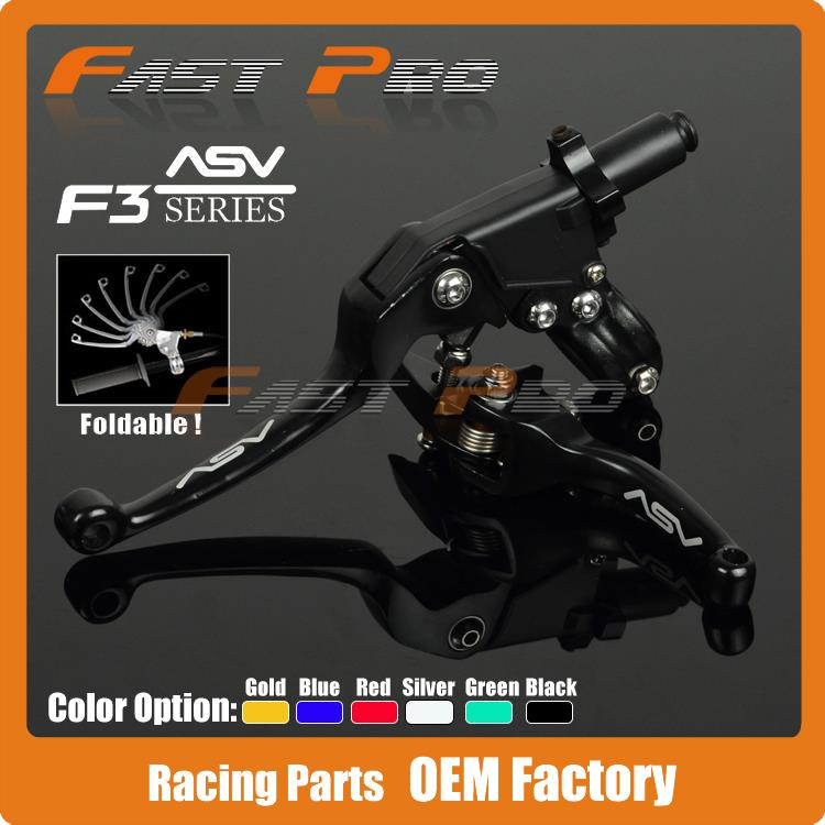 Alloy ASV F3 Series 2ND Clutch Brake Folding Lever Fit Motorcycle ATV Dirt Pit Bike Modify parts Spare Parts - Fast Pro racing store