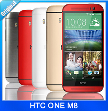 HTC ONE M8 Original Unlocked Quad-Core 4G LTE Network Smart Phone 16GB ROM 5.0″ 1920x1080p 5MP Camera Android 4.4 OS Cell Phones