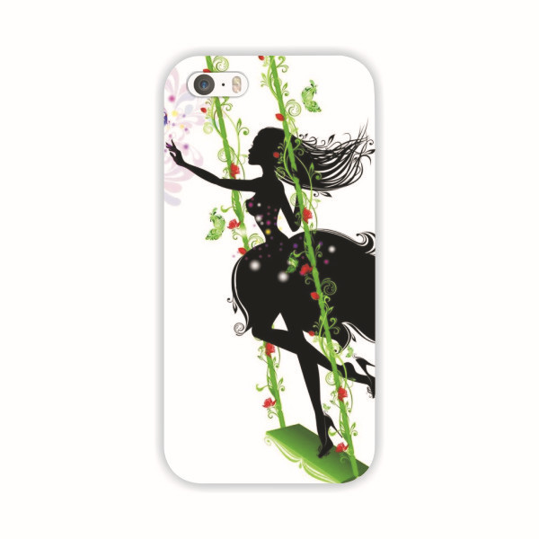 Min.order $10 (mix order) Fashion GIRL painted Pattern Hard Skin Case Cover Back Protector Fits iPhone 5 5s MCA009  -  xycharm store