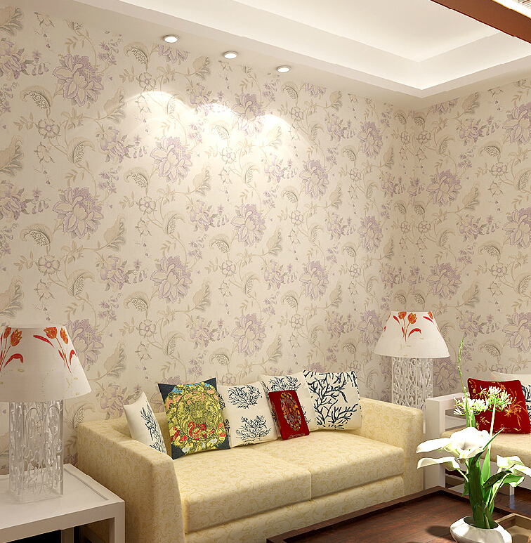 Download flower wallpaper living room gallery for Flower wallpaper for living room