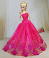 NK One Pcs Pink Lace Style Marriage ceremony Costume Princess Robe For Barbie Doll Finest present 005L