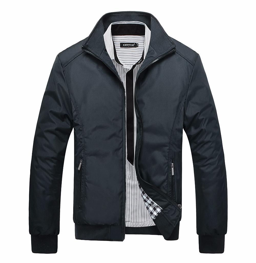 2015 New Arrival Spring Men's Solid Fashion Jacket Male Casual Slim Fit Mandarin Collar Jacket 3 Colors M-XXXL fashion MWJ682