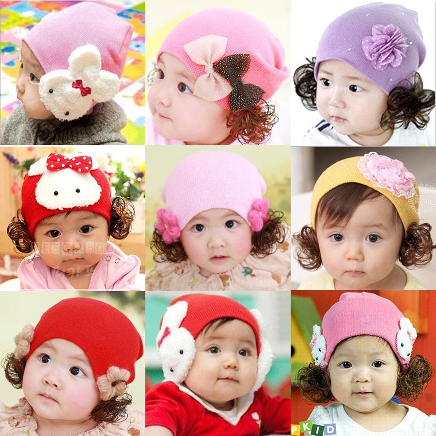 2015 New Fashion Spring Autumn Winter Warm Flower Ear Wig Baby Cap Children Cartoon Flower Animal Cute Cotton Hat Brand Design(China (Mainland))