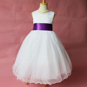 Flower Girl Dresse Wedding Easter Junior Bridesmaid dress curl white princess girl dress