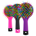 1 Piece Hot Selling Rainbow Volume Anti static Magic Hair Curl Straight Massage Magical Comb Brush