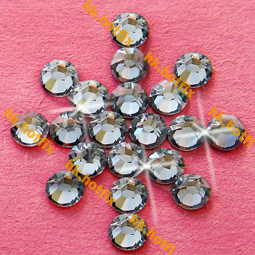 ss12 GENUINE Swarovski Elements Moonlight ( MOL ) 720 pcs ( NO hotfix Rhinestone ) Glass 12ss 2058 FLATBACK Clear Crystal Bulk