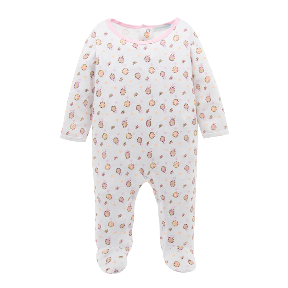 Newborn Baby Girl Romper Cotton Soft e Piece Long