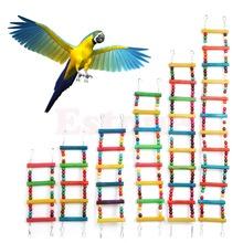 Il trasporto libero 6 formati Uccello Altalena Ponte Di Legno Scaletta Salita Parrocchetto Cockatiel Budgie Pappagallo Giocattolo Dell'animale Domestico(China (Mainland))