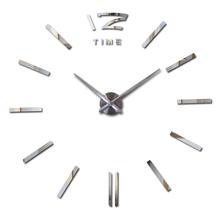 2016 hot sale wall clock large decorative wall clocks home decor diy clocks living room reloj mural wall sticker free shipping(China (Mainland))