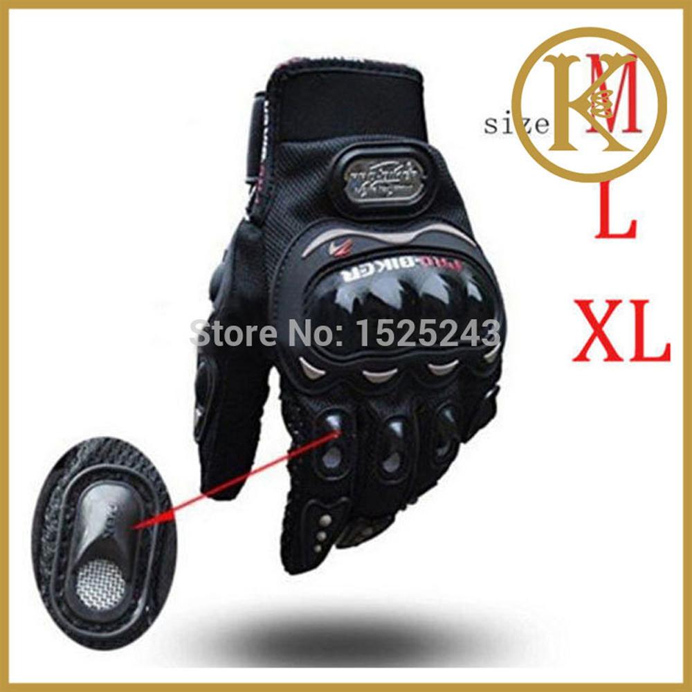 PRO knight Protective Gear Performance Black Pro-Biker Carbon Fiber Bike Motorcycle Motorbike moto Racing Cycling Gloves P12(China (Mainland))