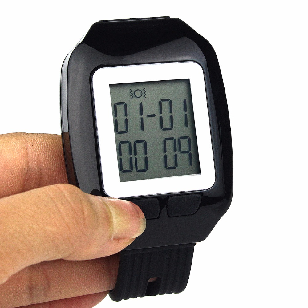 Wireless Coaster Pager Waiter Calling System Watch Receiver Guest Waiting Pager For Hotel F3123A(China (Mainland))