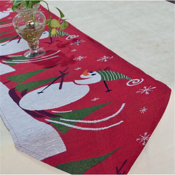 Red christmas table runner jacquard manteles individuales - Manteles para navidad ...