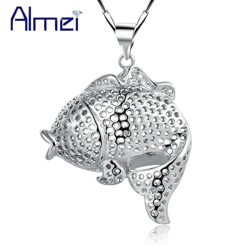 Woman Accesories Necklace Fish Cute 925 Sterling Silver Colar Vintage Bohemian Collares Etnicos Summer Style 2015 Ulove N694(China (Mainland))