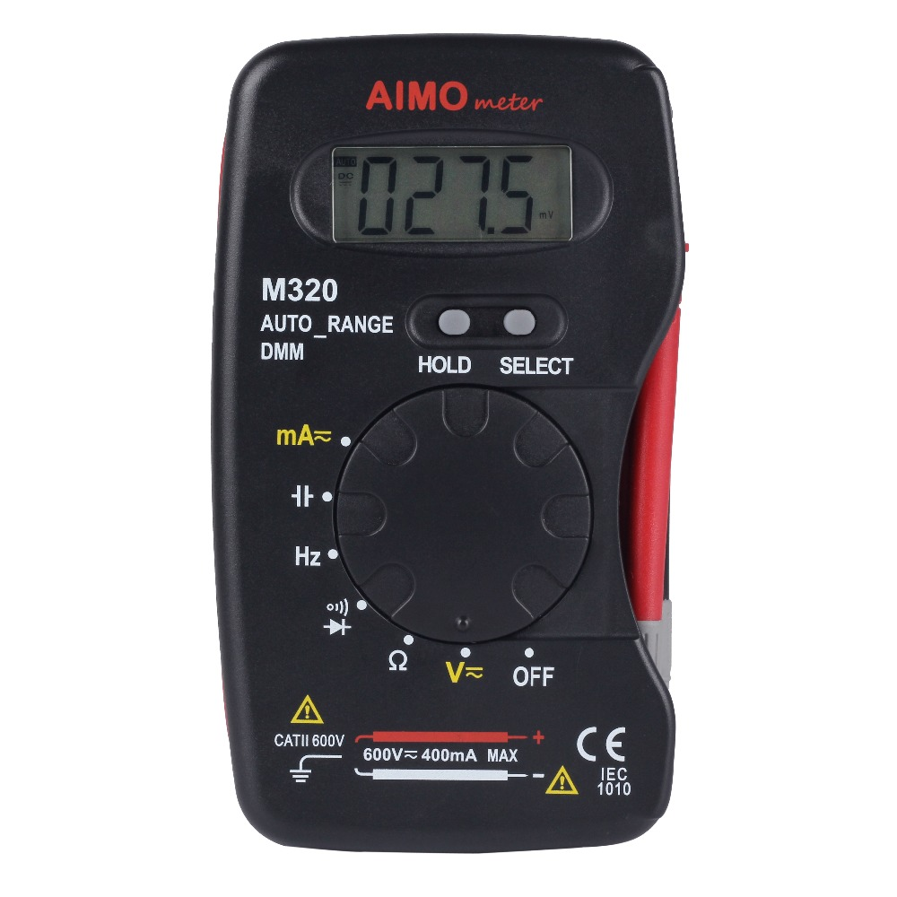 Aimometer M320 4000 Counts Auto Range Small Handheld Digital Multimeter Capacitance Measurement - BSIDE TRADE (HONGKONG storeCO.,LIMTED)