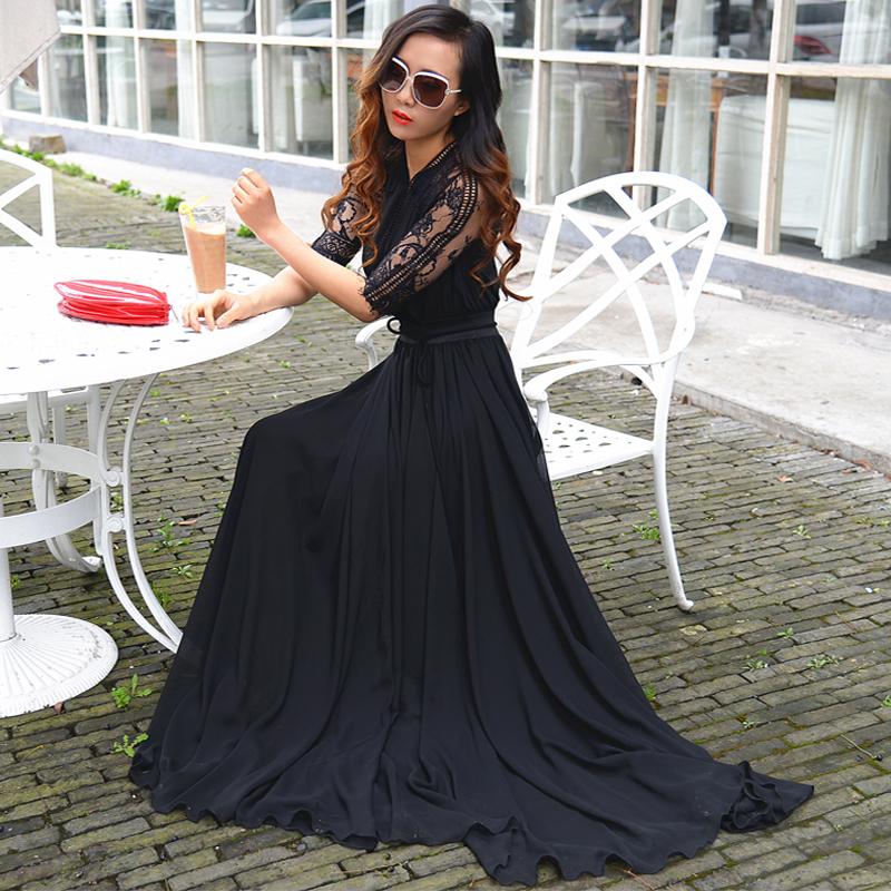 Innovative Dress Fashion Women Cotton Christmas Dresses 34 Half Sleeve Dress