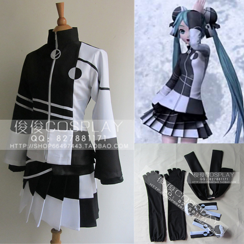 VOCALOID Hatsune Miku Girls' Cosplay Clothes Cartoon Megurine Luka Cosplay Yin-yang Suit Costumes for Halloween Christmas Party