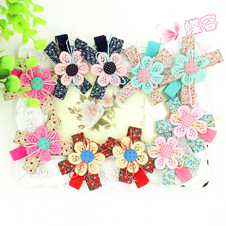 Buy 10pcs lot korean fabric lace flowers for Wholesale baby fabric